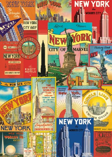 Cavallini & Co. New York City Decorative Decoupage Poster Wrapping Paper Sheet