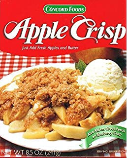 Amazon concord foods apple crisp mix 85 oz box pack of 4 concord foods apple crisp baking mix pack of 2 85 oz boxes forumfinder Images