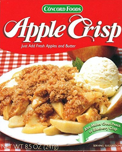 - Concord Foods Apple Crisp Baking Mix (Pack of 2) 8.5 oz Boxes