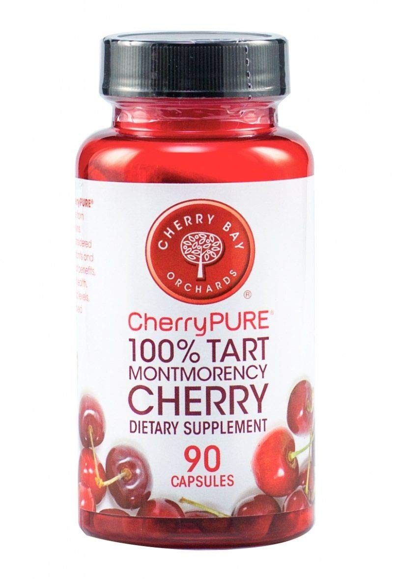 Cherrypure 100% Tart Montmorency Cherry Antioxidant Supplement Capsules, 90 Count