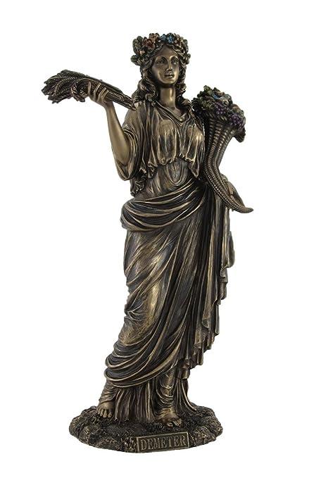 Amazon Greek Goddess Of Harvest Demeter Bronzed Statue Home