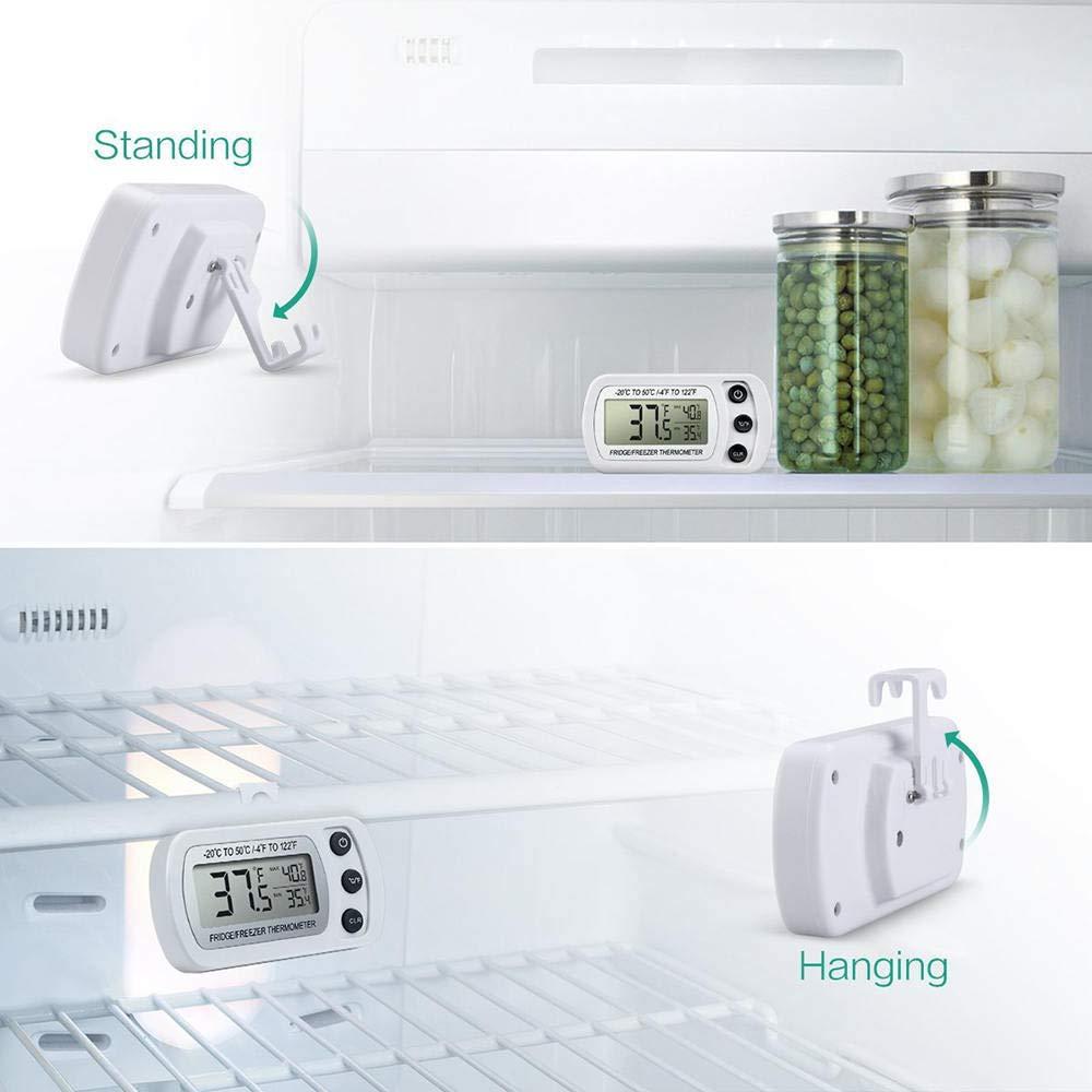 styleinside Termómetro De Refrigerador A Prueba De Agua, Monitor ...