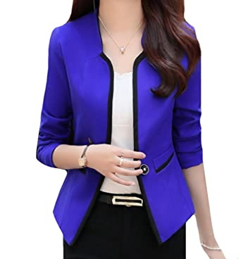 Xiaoshop Womens Slim Fit Textured Performance Open Front Dress Suit