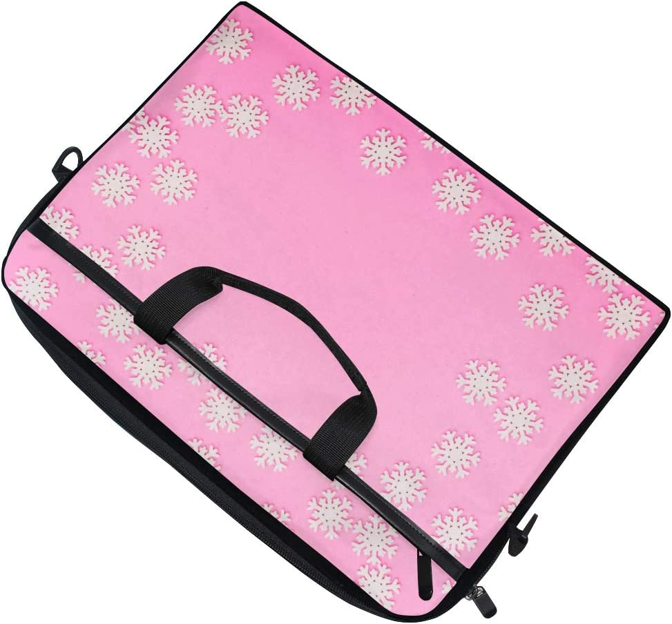 Suitable for 15 Inch Computers Briefcases Handbags Shoulder Bags Colored Background Snowflakes Mens and Womens Computer Bags