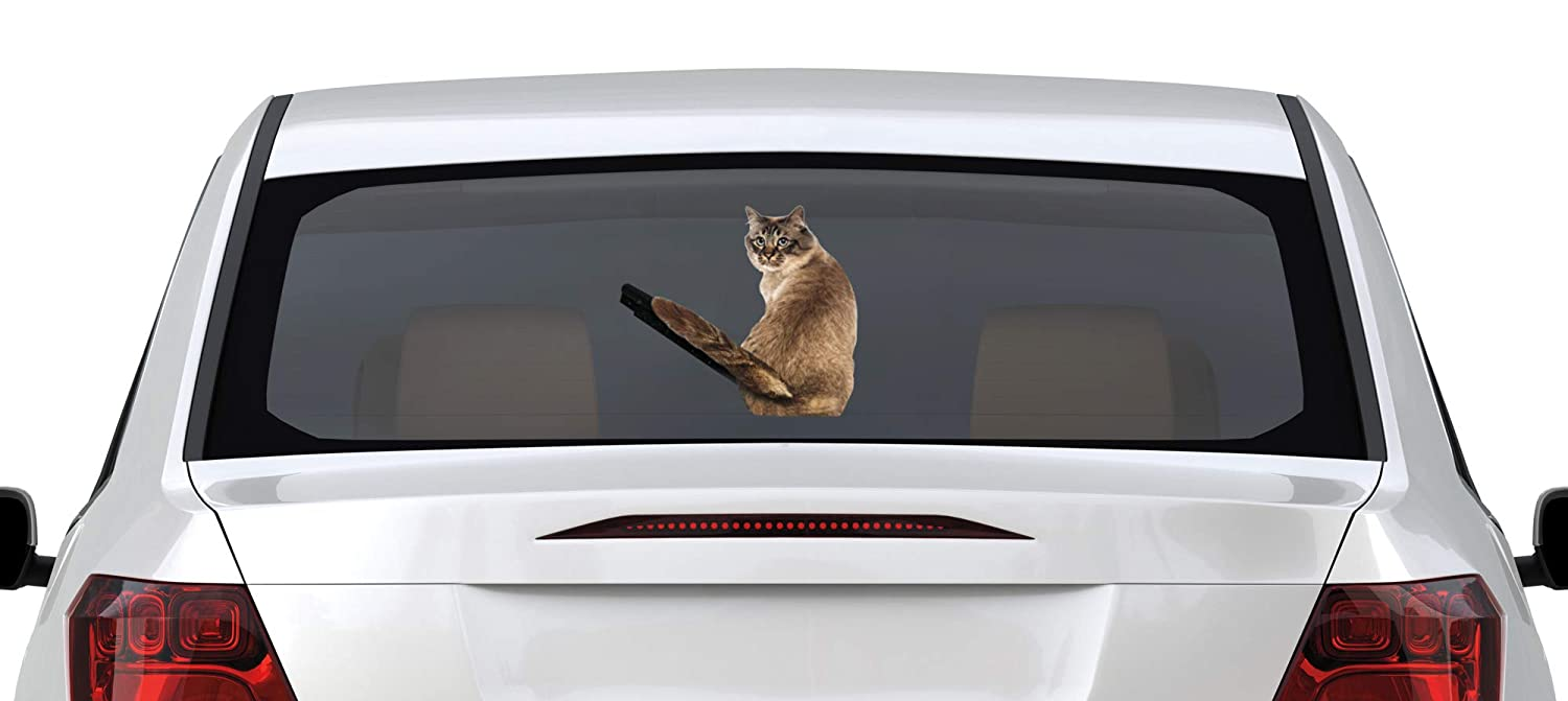 Realistic Funny Cat Moving Tail Stickers Rear Window and Wiper Decal The Paragon Moving Tail Cat Car Decal Self-Adhesive Vinyl Graphics Decal NINGBO YINZHOU SUNSHINEAST