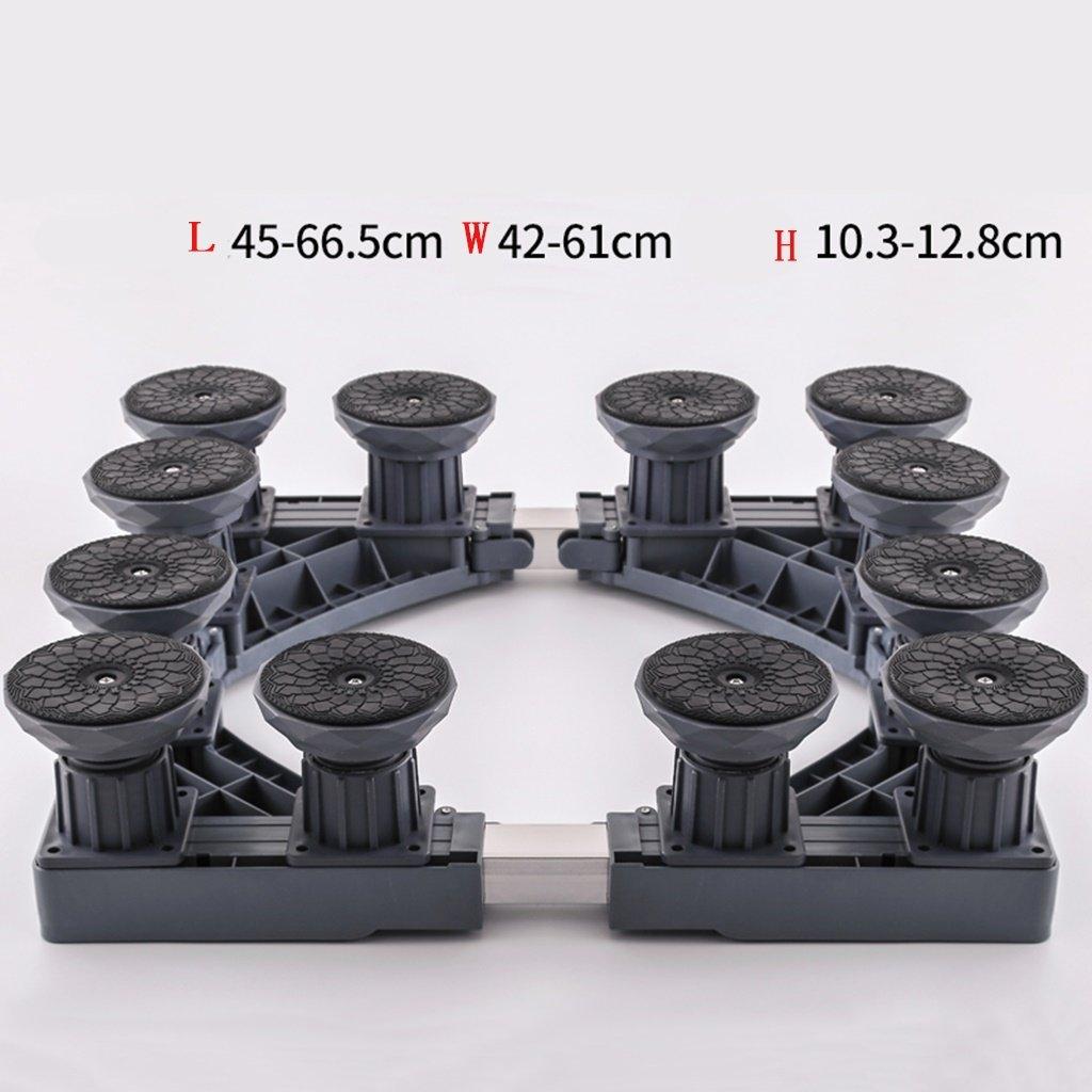 Drum Washing Machine Base Stainless Steel Bracket Fridge Stand -Casters (Size : C)