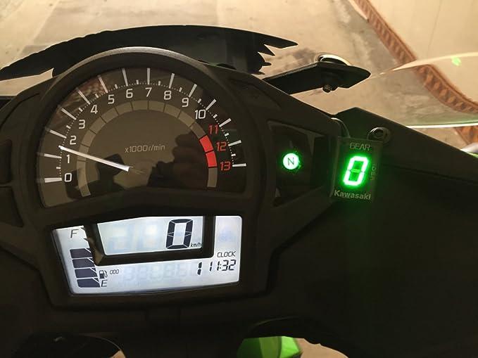 IDEA Indicador de marchas impermeable para motocicleta, conectar y usar, con luz LED verde