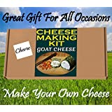Cheese Making KIT = GOAT CHEESE CHEVRE= Great Gift Present = Full instruction Included Just Add Milk …