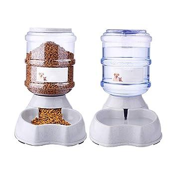 Perro bebe fuentes mascota alimentador automático de alimentación dispositivo de beber agua que cuelga dispensador de agua de gato dispensador de perro ...