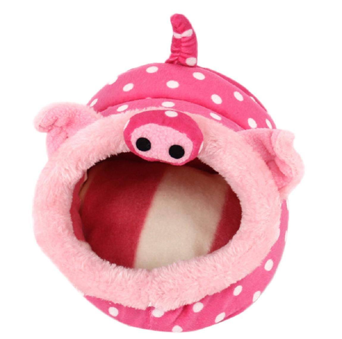 Barlingrock Pet Small Animals Beds House, Hamster Dwarfs Guinea Pig Winter Warm Nest Rat Hedgehog Cute Soft Comfortable Plush Hosue Squirrel Chinchilla Cave Cage Sleep Play Rest Cage