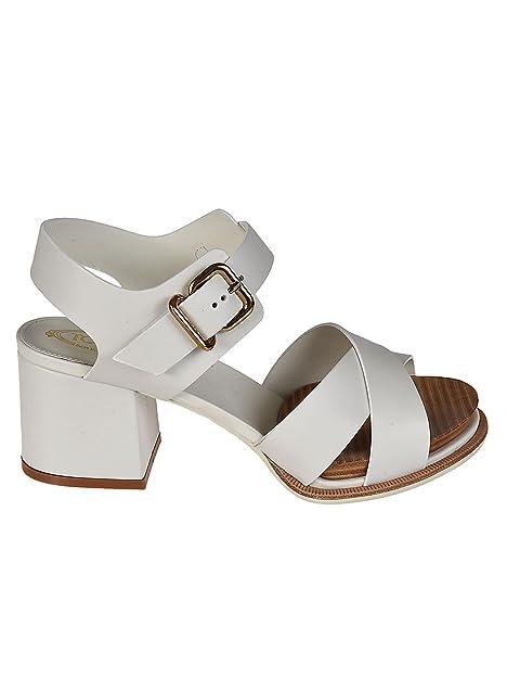 Sandali bianchi con fibbie per donna Tod's FwrtE2ovXe