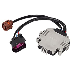 PartsSquare Cooling Fan Control Module 1D09590455FE 1TD959455 Replacement for Volkswagen Jetta 2007 2008 2010 2011 & Passat 2006 2007 2008 2009 2010 & GTI 2006 2007 2008 2009-2012
