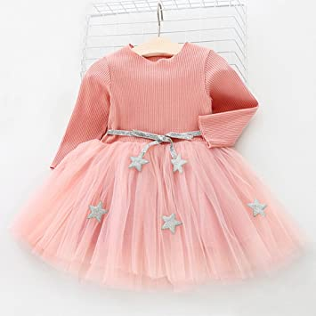 97aa199a29958 キッズドレス Yochyan 子供 女の子 子供服 ベビー服 ドレス 可愛い 柔らかい キュート 長袖 ロングスリーブ プリンセス