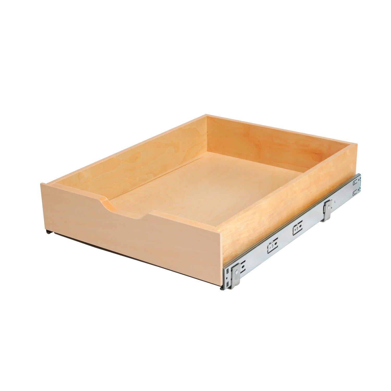 Knape & Vogt Absenkautomatik Holz Schublade Box, braun, 5-Inch by ...