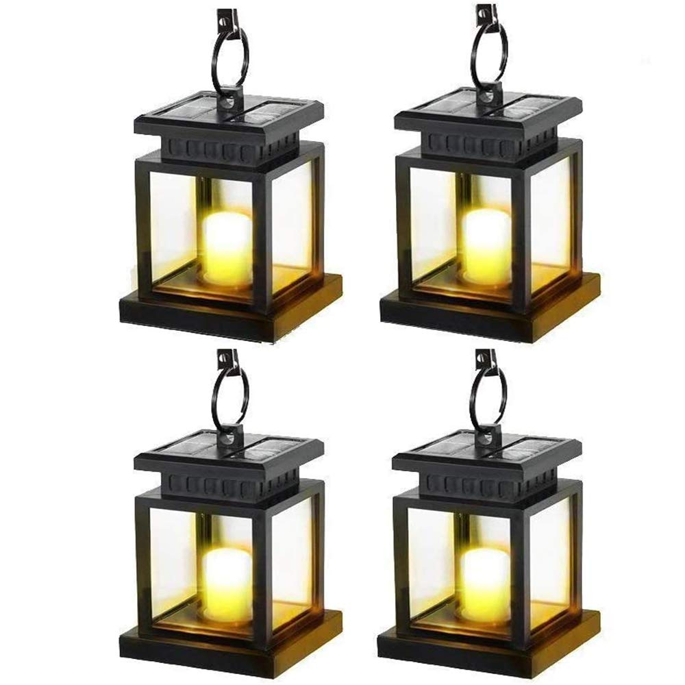Kyson Solar Power Vintage Latern Candle Twinkle Effect 2 LEDs Outdoor Waterproof
