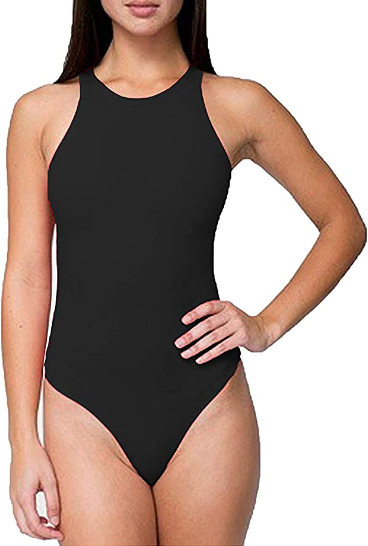 Ladies Womens Plain Viscose Stretchy 3 Button Sleeveless Scoop Back Bodysuit Vest Leotard