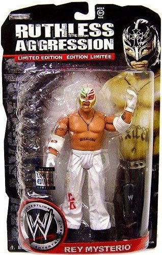 WWE Wrestling Ruthless Aggression Series 38 Limited Edition Action Figure Rey Mysterio (White Mexico Mask and Pants)