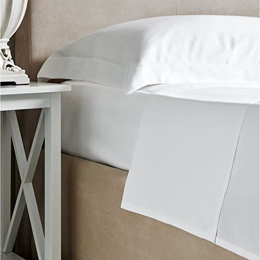 Bamboo Bed Linen   Luxury 100% Bamboo White Fitted Sheet   300 Thread Count