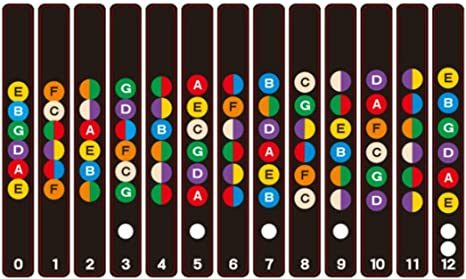 Guitarra Diapasón Pegatina Notas Mapa Etiquetas Diapasón Diapasón ...