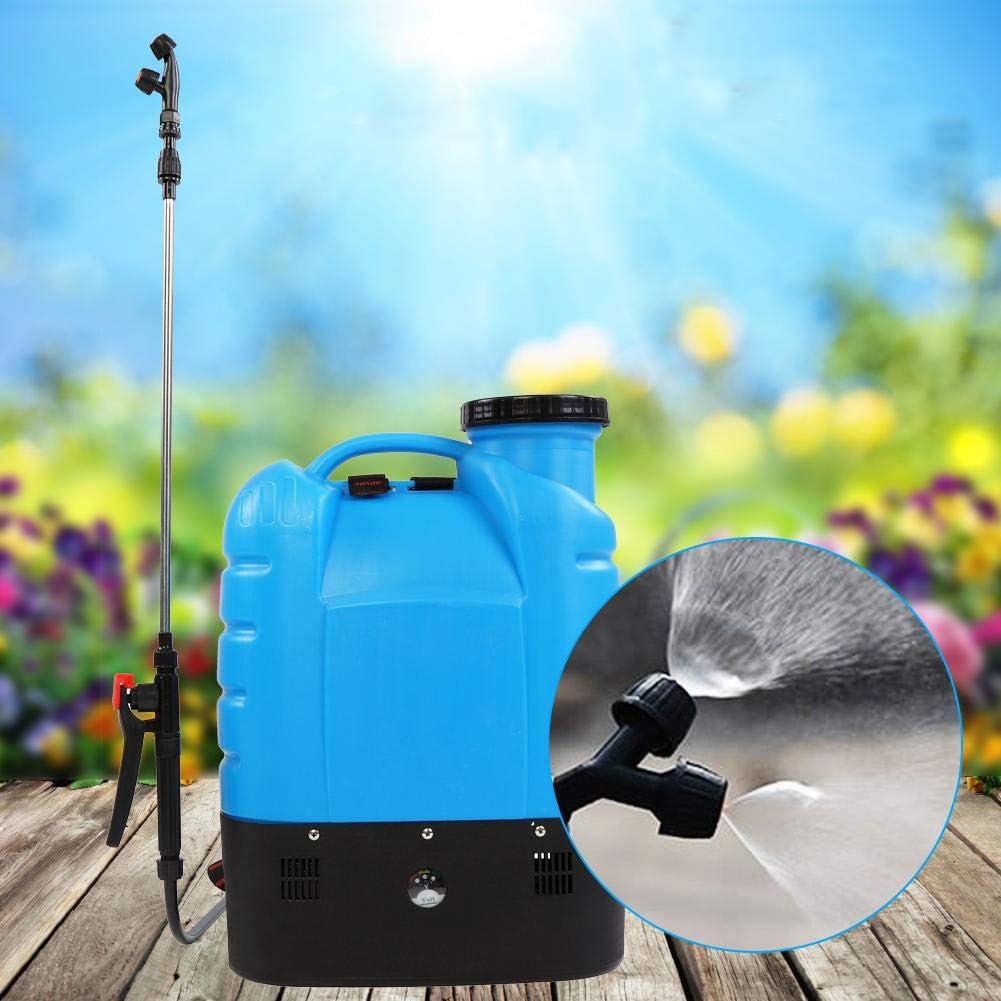 Jeringa de Espalda de GOTOTOTOTOTOTOP, pulverizador de Mochila eléctrica de 16 L, para Malas Hierbas, para jardín, Alta presión, Herramientas de jardín, 50 x 37 x 16,5 cm
