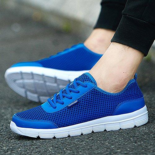 Adultos Unisex Verano De Malla Transpirable Zapatos Aqua Caminar Zapatillas Negro Azul Gris Azul