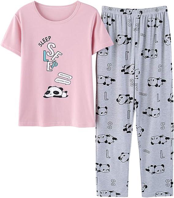 Girls Pajamas Long Sleeve Shirt /& Pants Snug Fit Sleepwear Set