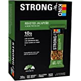 STRONG & KIND Protein Bars, Roasted Jalapeno Savory Snack Bars, 1.6 Ounce, 12 Count