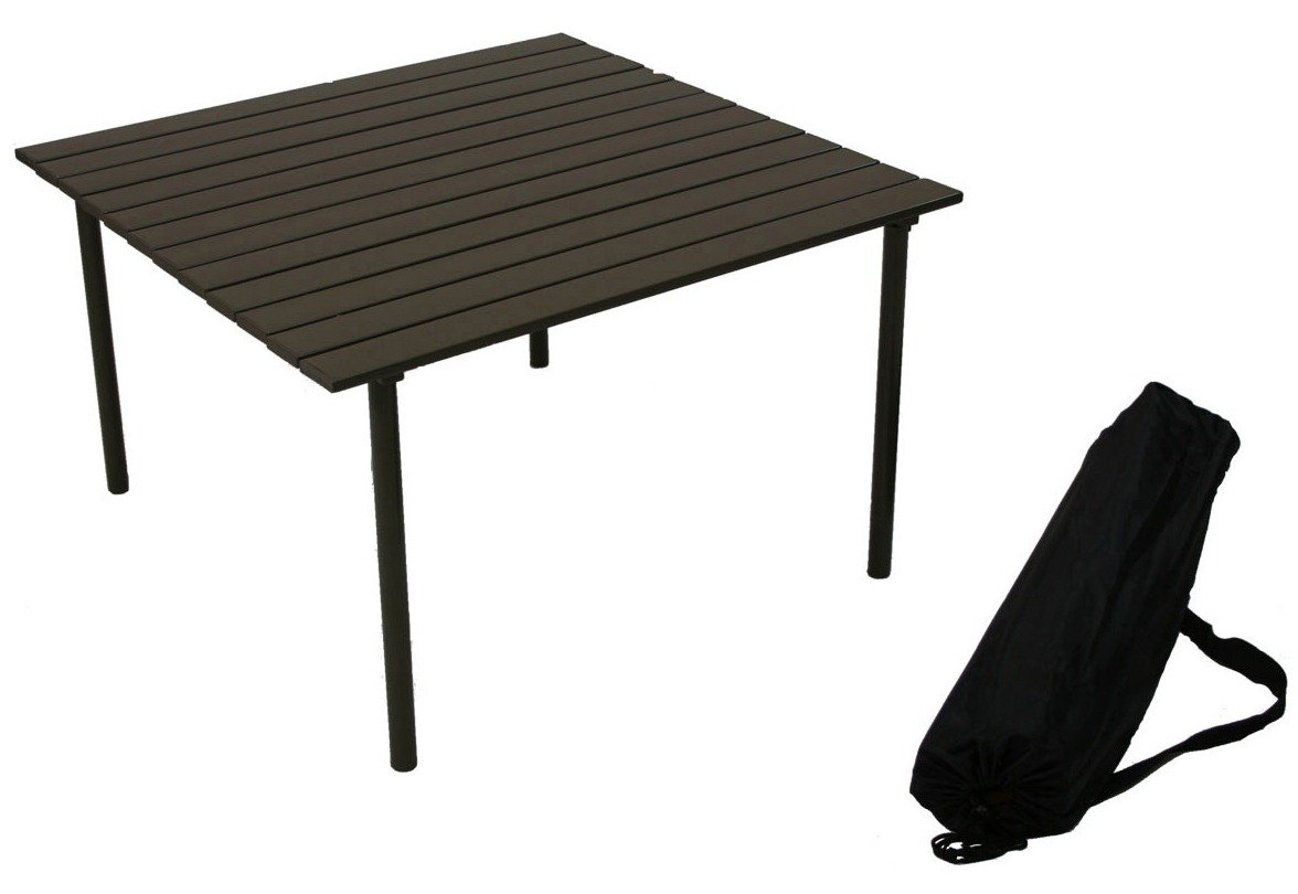 Table in a Bag A2716 Low Aluminum Portable Table With Carrying Bag, Brown