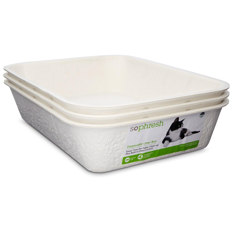 So Phresh Disposable Litter Boxes, Pack of 3, Standard