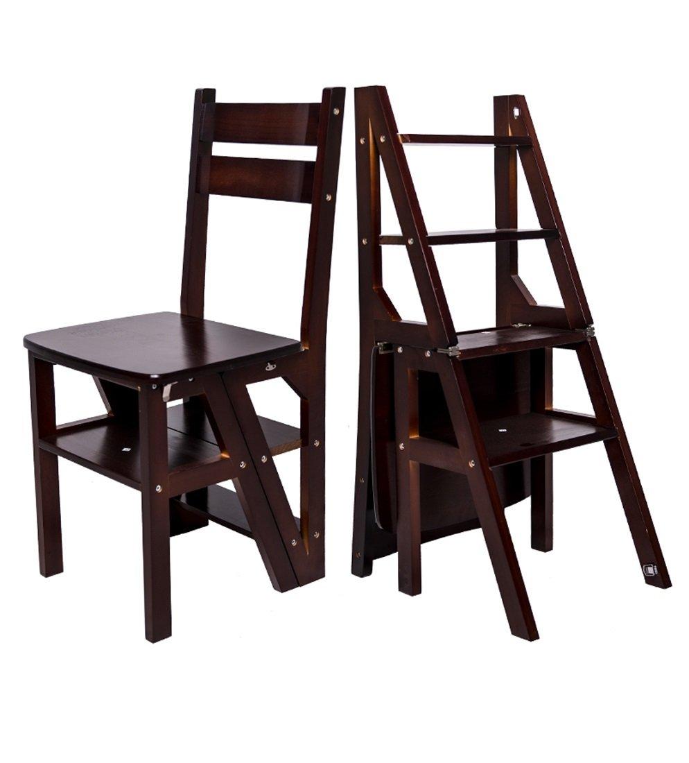 CAIJUN 階段 椅子 スツール 無垢材 二重使用 多機能 厚い はしごを昇る 4つのステップ Dinette、4色 (色 : 2#) B07DXLPVYB 2# 2#