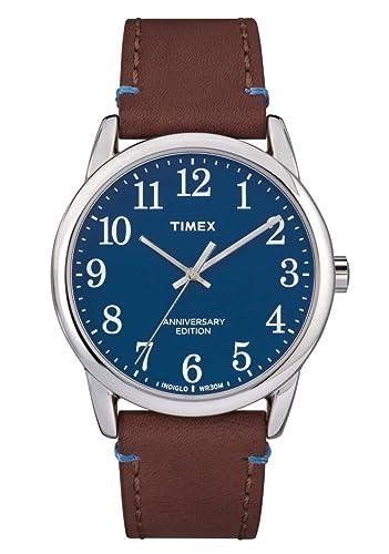 Timex Reloj Analógico para Hombre de Cuarzo con Correa en Cuero TW2R36000: Amazon.es: Relojes