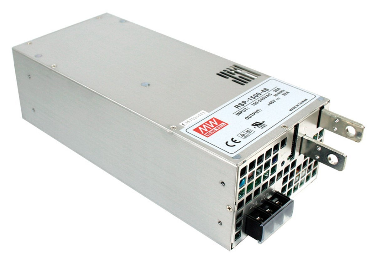 Mean Well RSP-1500-27 Enclosed Switching AC-to-DC Power Supply, Single Output, 27V, 0-56A, 1512W, 3.3'' H x 5.0'' W x 10.9'' L