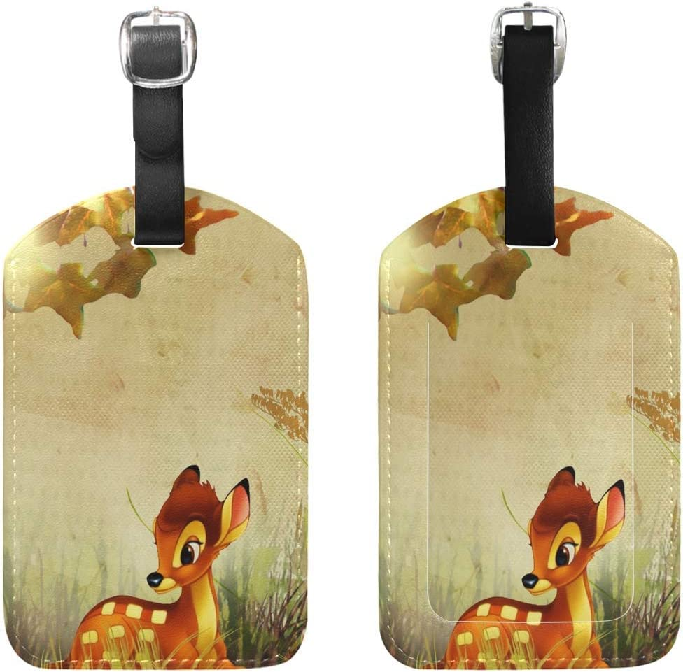 Luggage Tags Fall Bambi Autumn Flowers Travel 1 Pack