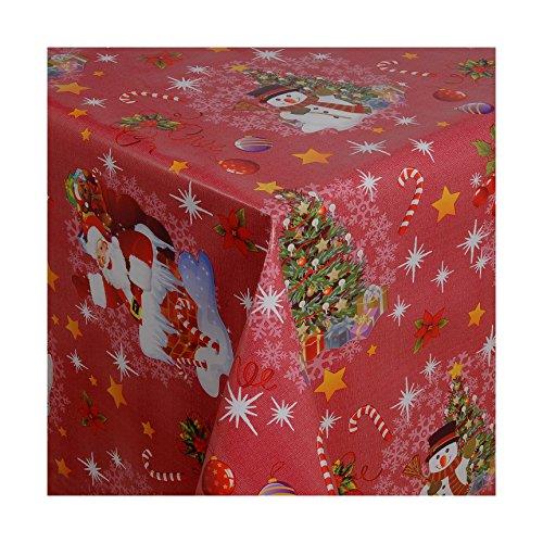 Wachstuch-Tischdecke Abwaschbar nach Wunschmaß Weihnacht-Design 7 Rot ( 188-03 ) - 100 x 140 cm
