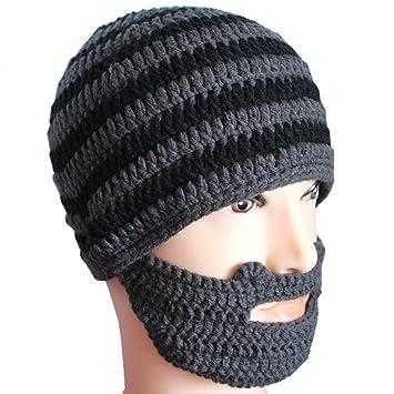 ecd0fcd6393 Knit Winter Crochet Beard Beanie Mustache Mask Face Warmer Ski Hat Cap   Amazon.ca  Sports   Outdoors