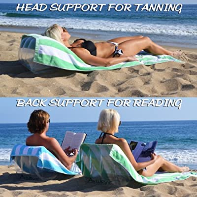 GoSports AirWedge Inflatable Beach Chair - Relax with The Comfort of Air (2-Pack) : Sports & Outdoors
