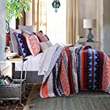 Best Greenland Home Home Fashion Pinks - 3 Piece Modern Reversible Bohemian Quilt Set in Review