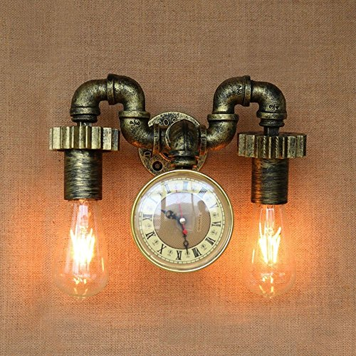 HOMEE Wall lamp- american loft retro industrial wind iron water pipe wall lamp aisle decoration balcony restaurant bar wall lamp --wall lighting decorations by HOMEE