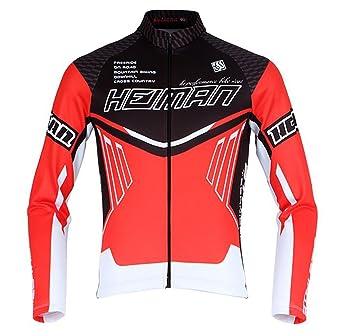 b0679bc46 Amazon.com  HEIMAN Men Women Thermal Long Sleeve Outdoor cotton flannel  Cycling Jersey Team Wear (GLS-534) (M)  Car Electronics