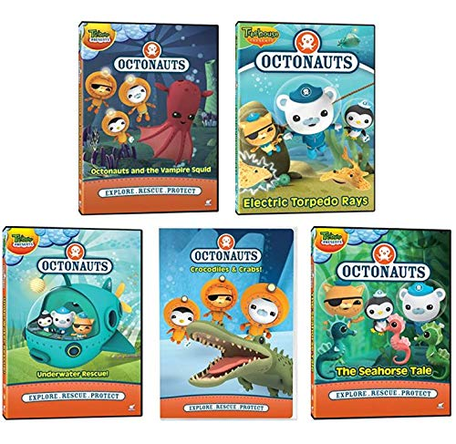 Ultimate Octonauts - Explore. Rescue. Protect - Education & Learning DVD Collection: Vampire Squid / Electric Torpedo Rays / Underwater Rescue / Seahorse Tale / Crocodiles & Crabs