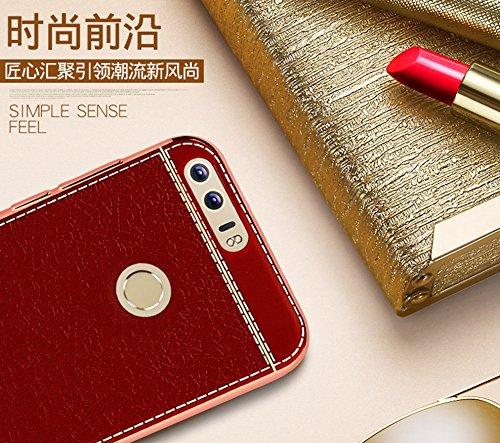 Funda Huawei Honor 8,Manyip Alta Calidad Ultra Slim Anti-Rasguño y Resistente Huellas Dactilares Totalmente Protectora Caso de Cuero Cover Case Adecuado para el Huawei Honor 8 F