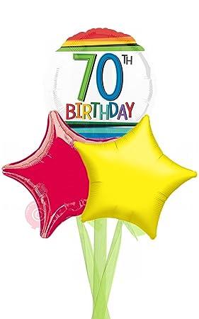 Num 70 Rainbow 70th Birthday
