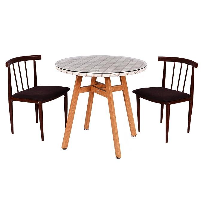 Amazon.com: Juego de 3 piezas de mesa de comedor con 2 ...