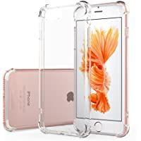 """TiYa Funda para iPhone 7 y iPhone 8 y iPhone SE 2 2020 Case 4.7"""" Carcasa Bumper,Shock-Absorción TPU Transparente con…"""