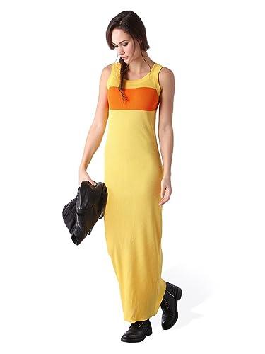 Diesel M-CRESP ABITO Abito maxi abito da donna giallo