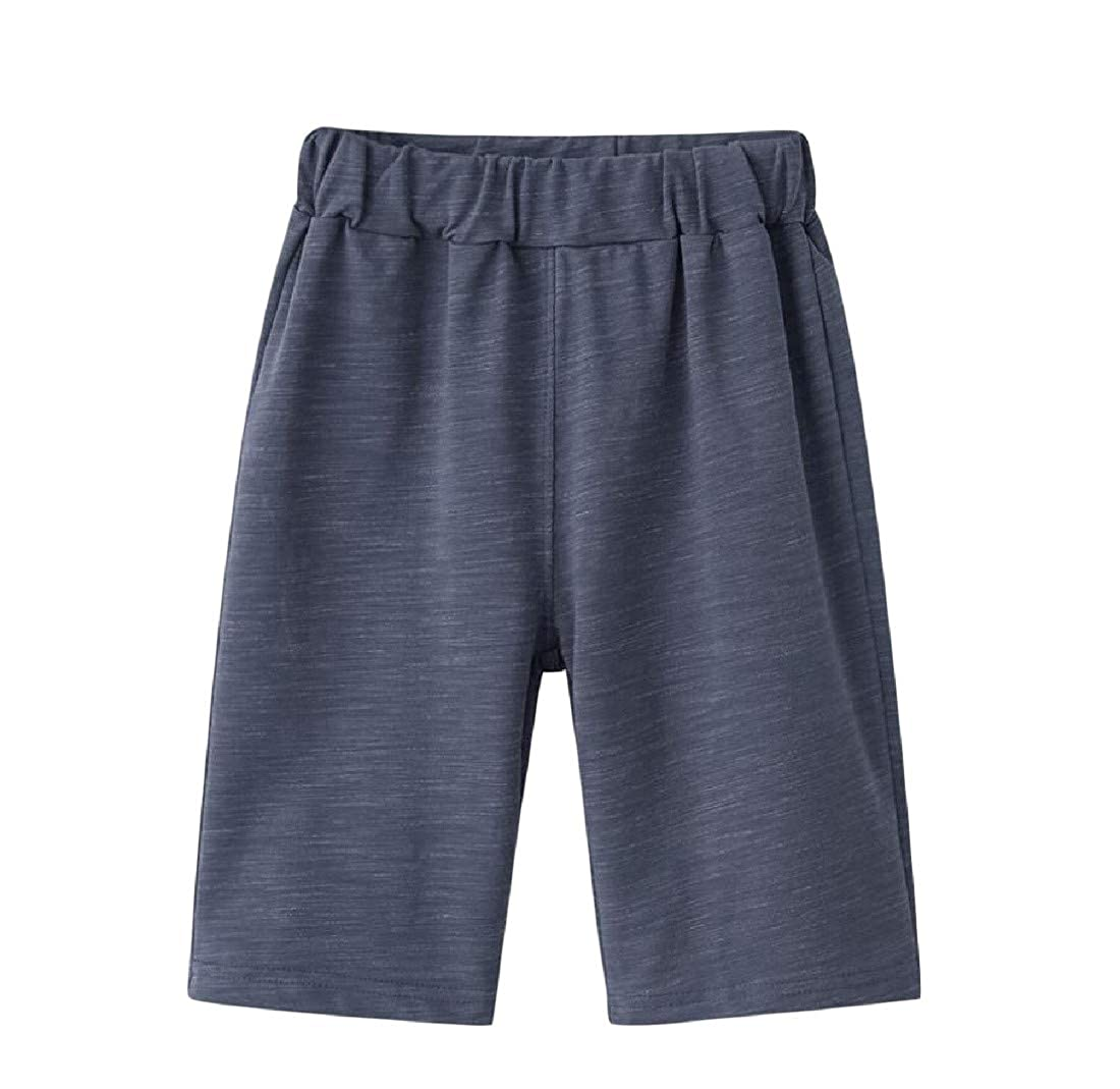Etecredpow Boys Slim Solid Summer Cotton Cute Shorts