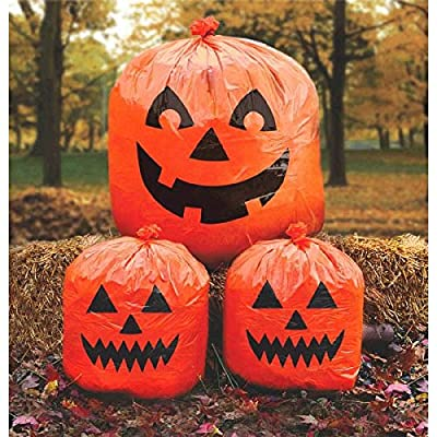 "Amscan Pumpkin Lawn Bags, Halloween Decoration 30"" x 24"", Orange: Toys & Games"