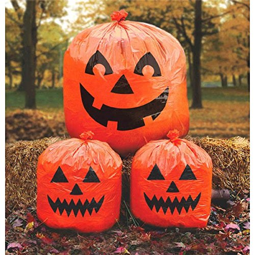 Amscan Pumpkin Lawn Bags | Halloween Decoration