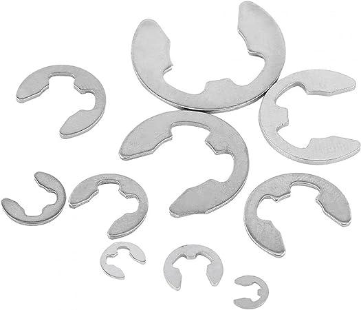 MYERZI Reinforcement Parts MXSC2 Stainless Steel E-Clip Circlip Retaining Snap Ring 1.5-10mm Assortment Kit 120Pcs