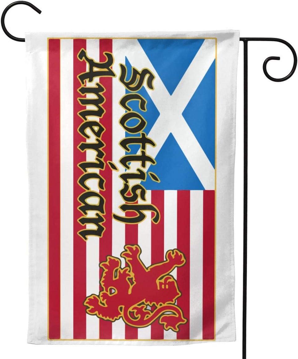 SMHYQ4Q Scottish American Flag Garden Flag Weather Resistant & Double Sided Decor Garden Banner 12.5